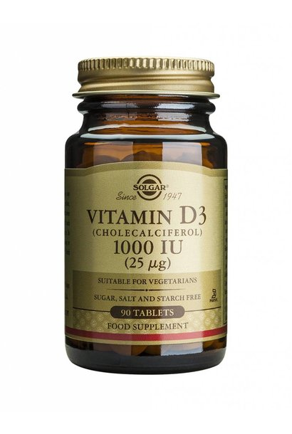 Vitamin D-3 1000 IU/25 µg tablet 90 tabletten