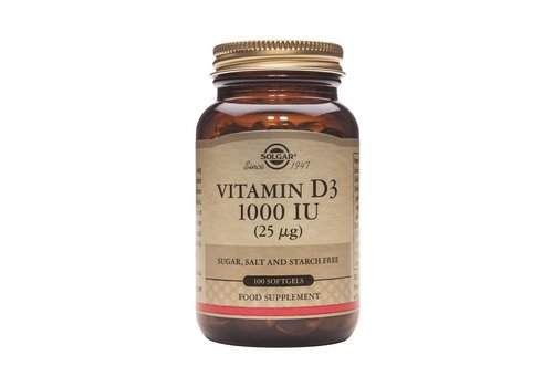 Solgar Vitamin D-3 1000 IU/25 µg 250 softgels