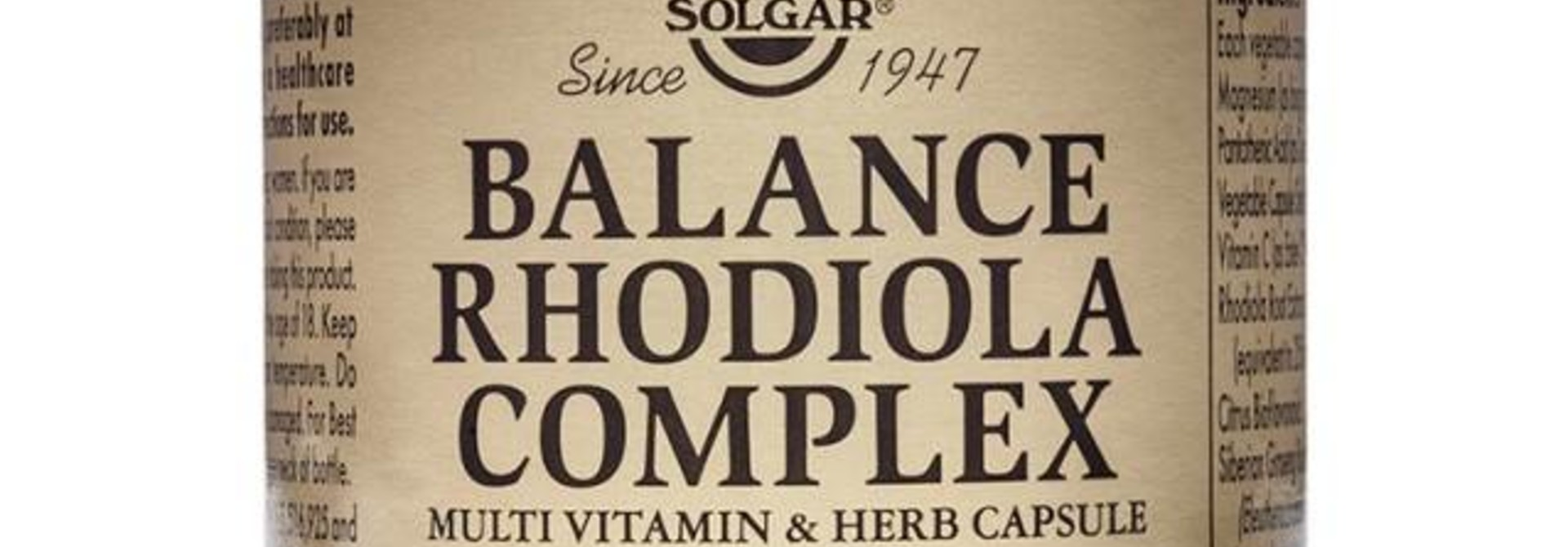 Balance Rhodiola Complex 60 plantaardige capsules