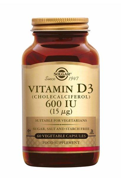Vitamin D-3 600 IU/15 µg 60 plantaardige capsules