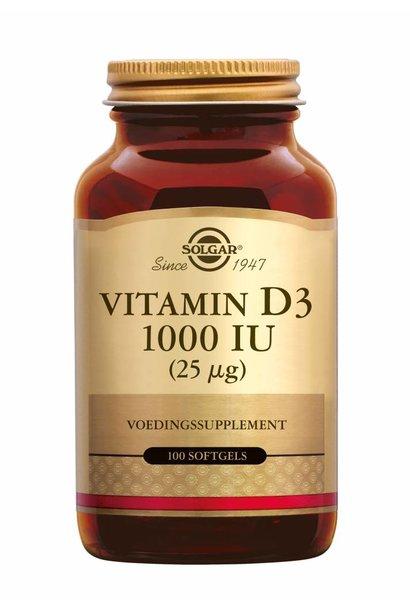 Vitamin D-3 1000 IU/25 µg 100 softgels