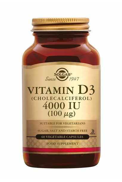 Vitamin D-3 4000 IU /100 µg 60 plantaardige capsules