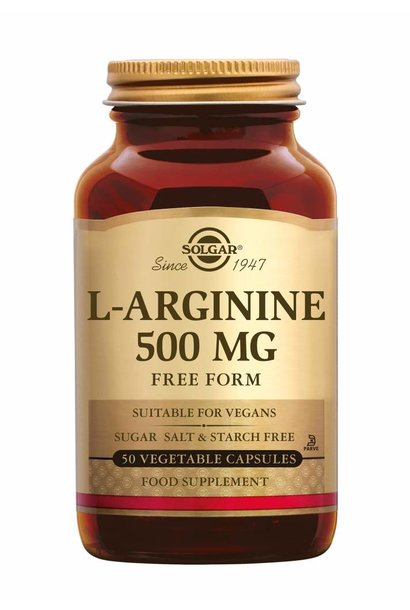 L-Arginine 500 mg 50 plantaardige capsules