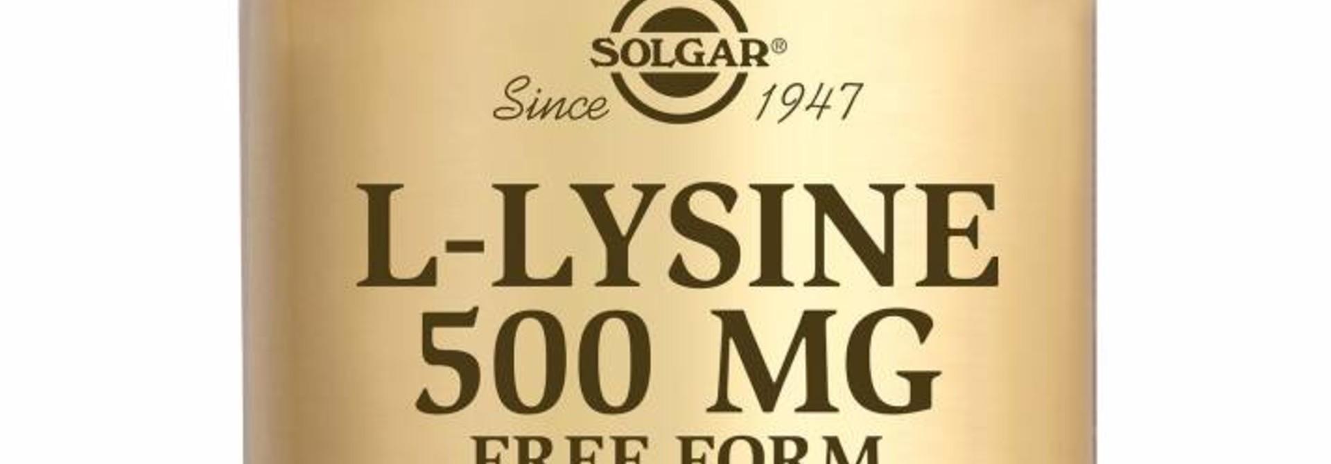 L-Lysine 500 mg 50 plantaardige capsules