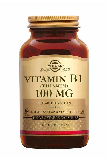 Vitamin B-1 100 mg 100 plantaardige capsules