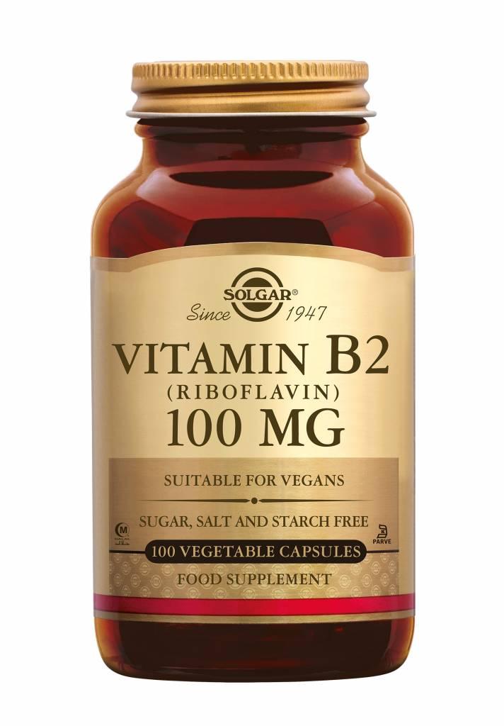 Vitamin B-2 100 mg 100 plantaardige capsules-1