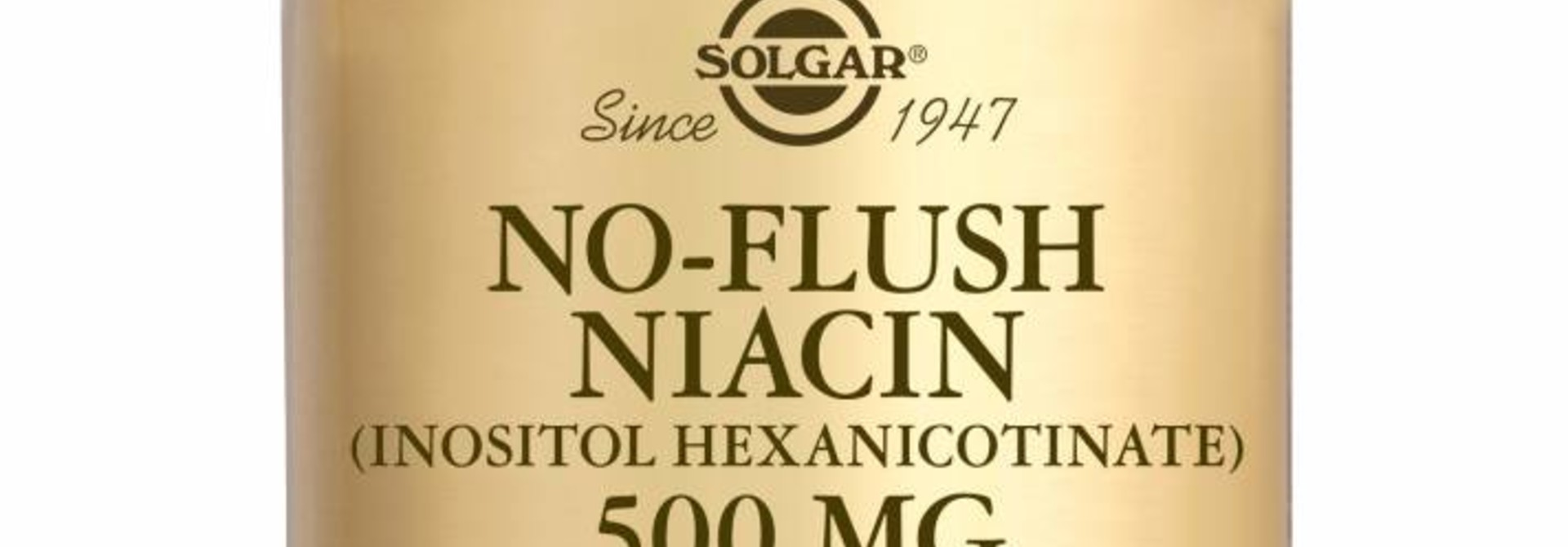 No-Flush Niacin 500 mg 50 plantaardige capsules