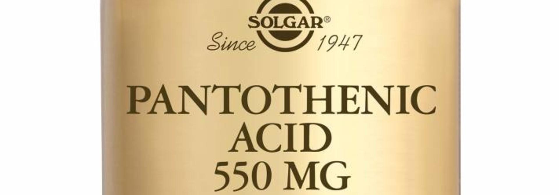 Pantothenic Acid 550 mg 50 plantaardige capsules