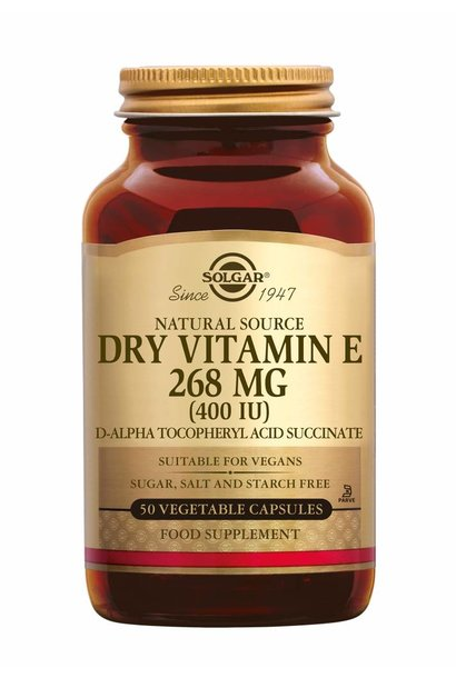Vitamin E 268 mg/400 IU Dry 50 plantaardige capsules