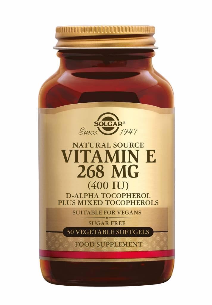 Vitamin E 268 mg/400 IU Vegan 50 plantaardige softgels-1