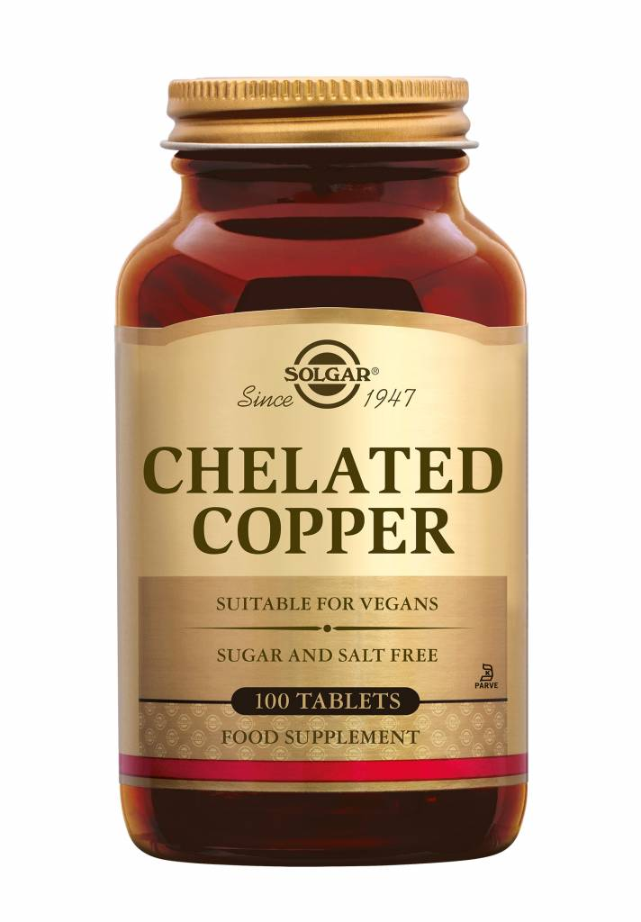 Chelated Copper 100 tabletten-1