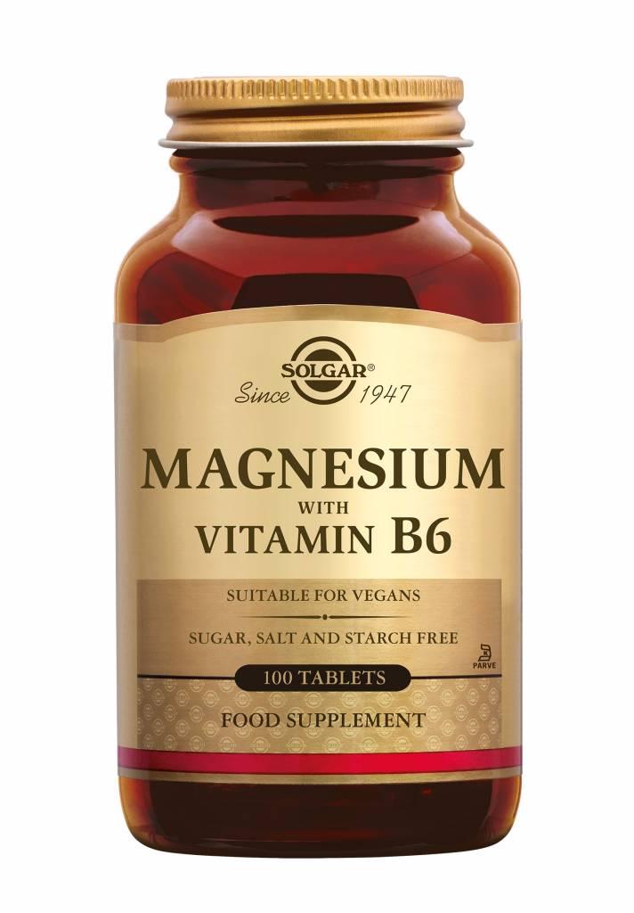 Magnesium with Vitamin B-6 100 tabletten-1