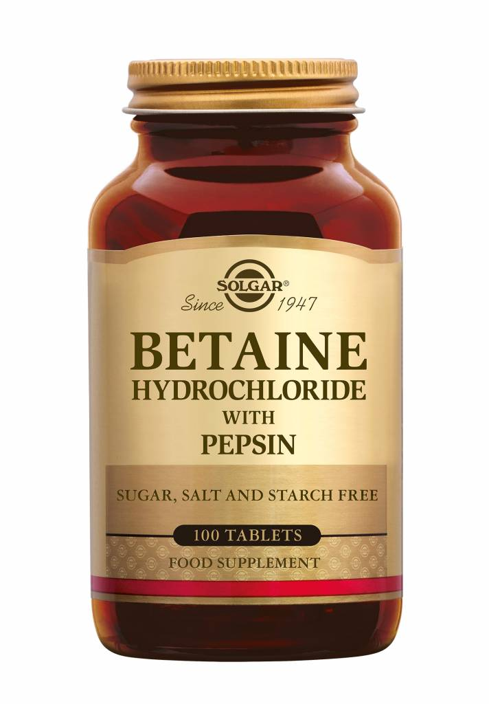 Betaine Hydrochloride with Pepsin 100 tabletten-1