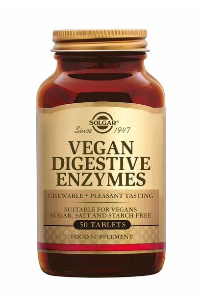 Vegan Digestive Enzymes 50 kauwtabletten