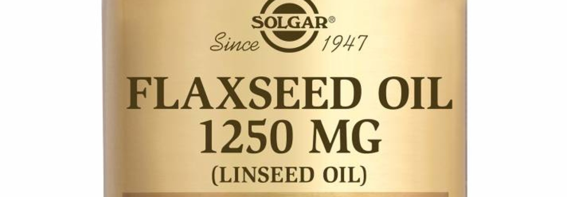 Flaxseed Oil 1250 mg 100 softgels