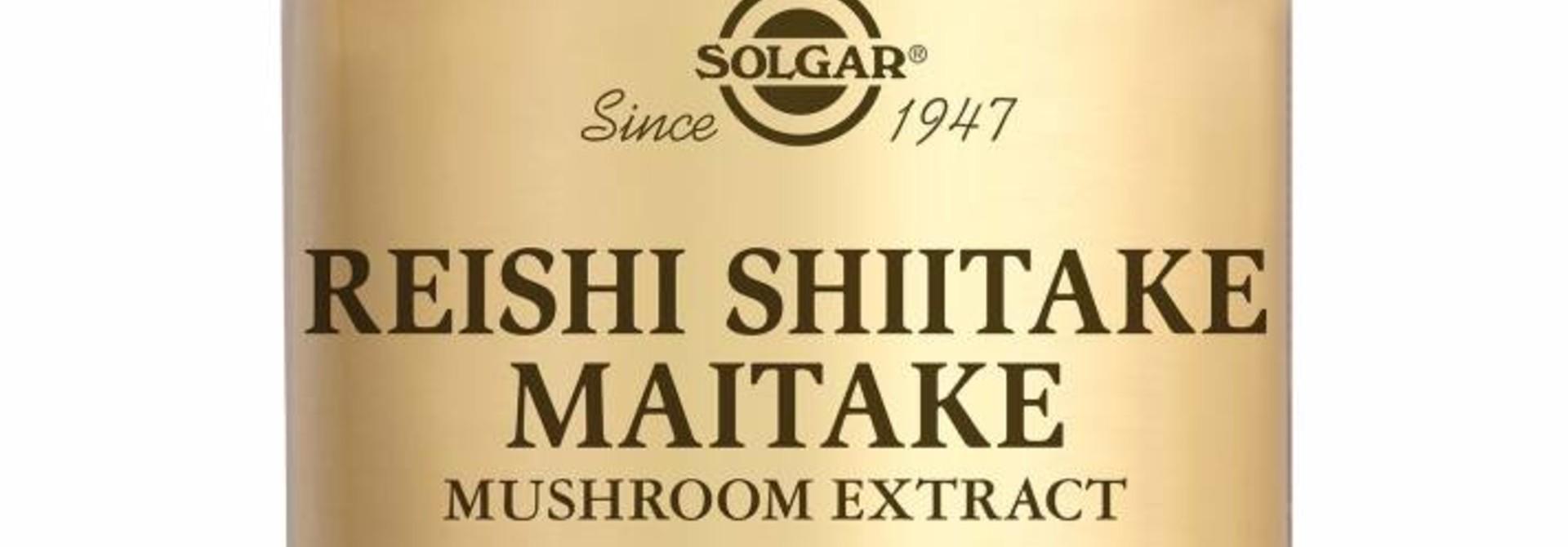 Reishi Shiitake Maitake Mushroom Extract 50 plantaardige capsules