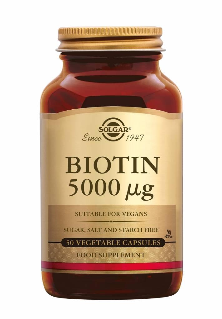 Biotin 5000 µg 50 plantaardige capsules-1