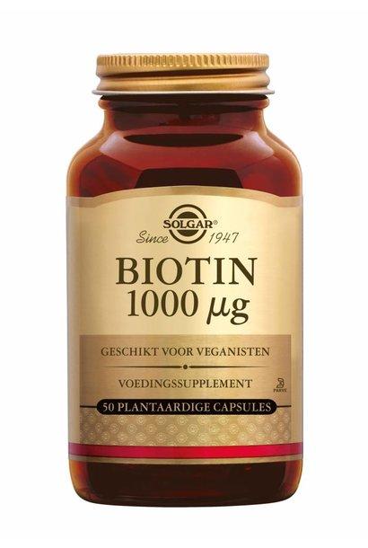 Biotin 1000 µg 50 plantaardige capsules
