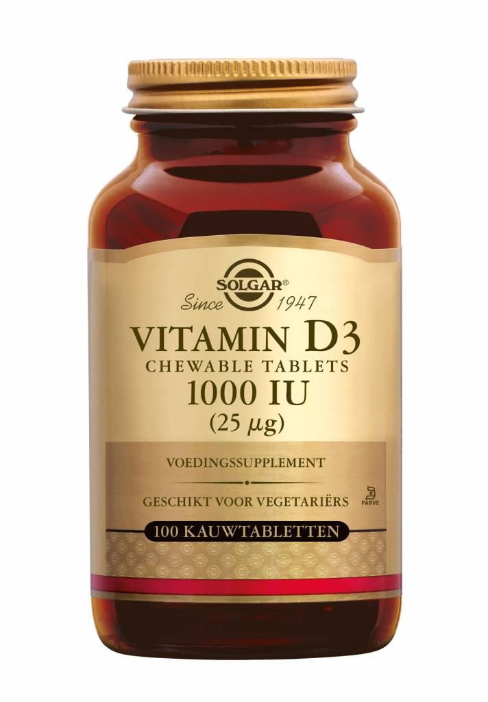 Vitamin D-3 1000 IU/25 µg Chewable Tablets 100 kauwtabletten-1
