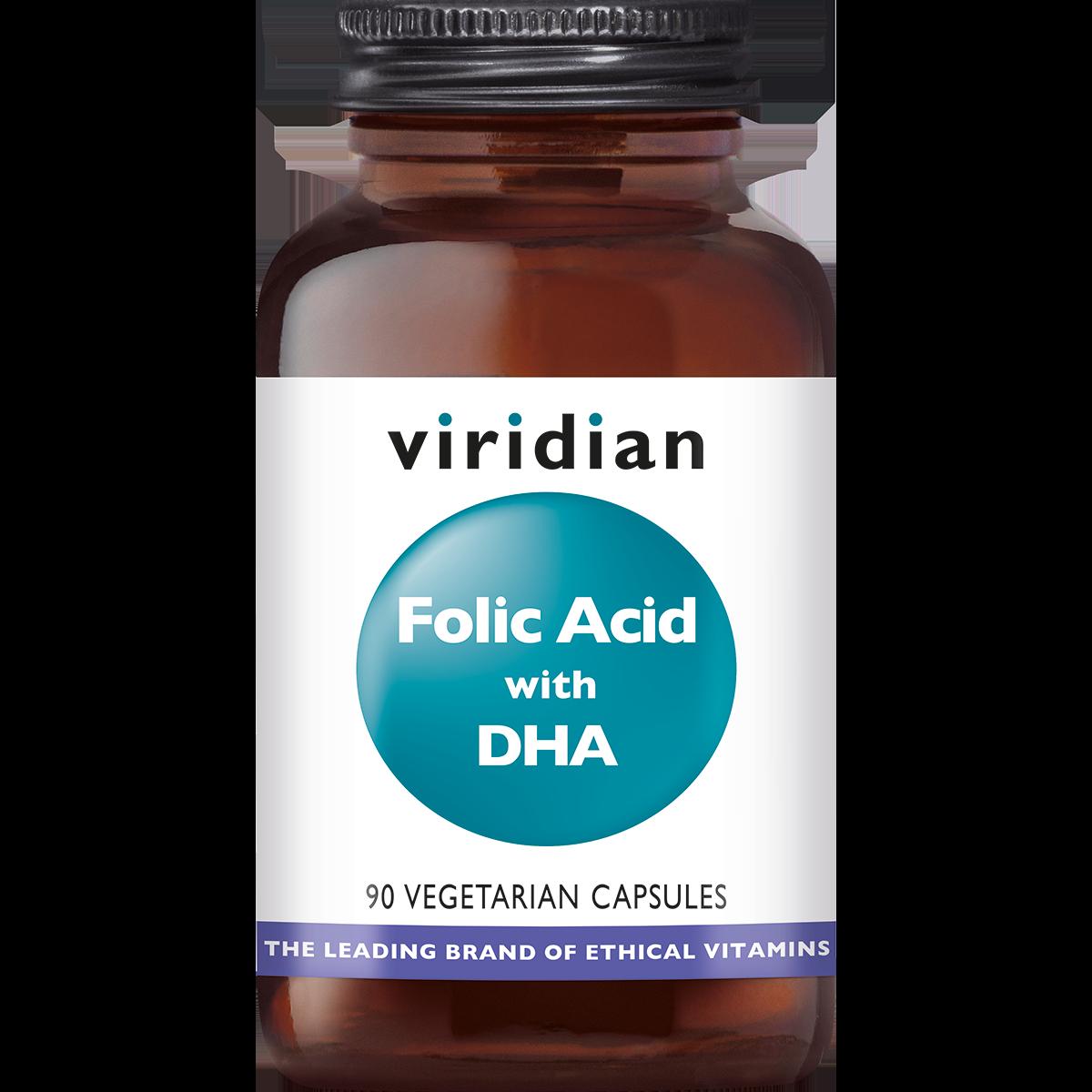 Folic Acid with DHA 90 plantaardige capsules-1