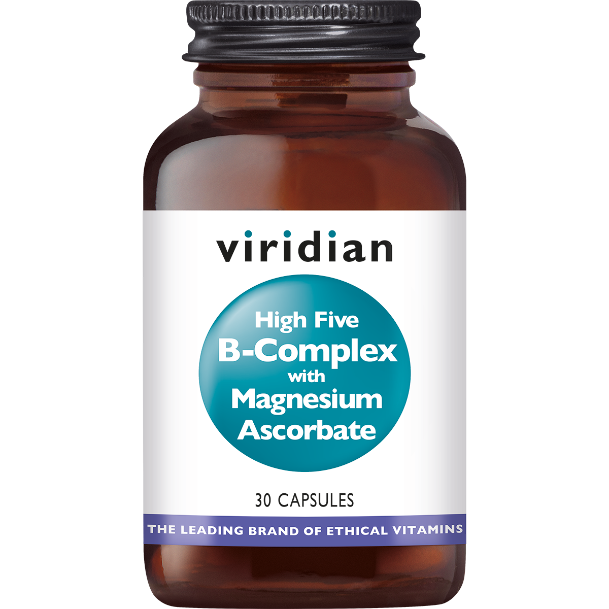 HIGH FIVE® B-Complex with Magnesium Ascorbate 30 plantaardige capsules-1