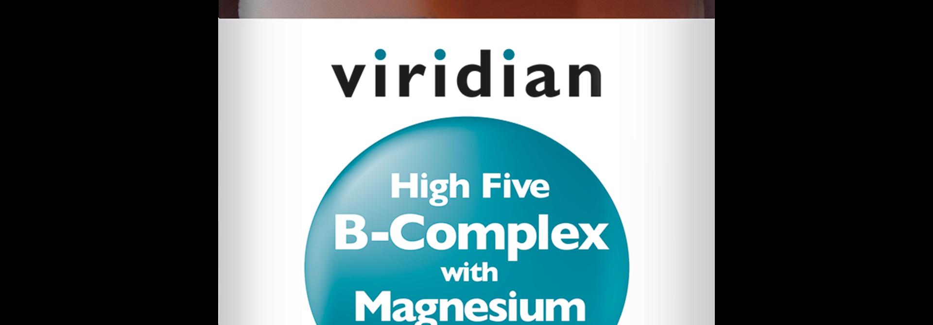 HIGH FIVE® B-Complex with Magnesium Ascorbate 120 plantaardige capsules