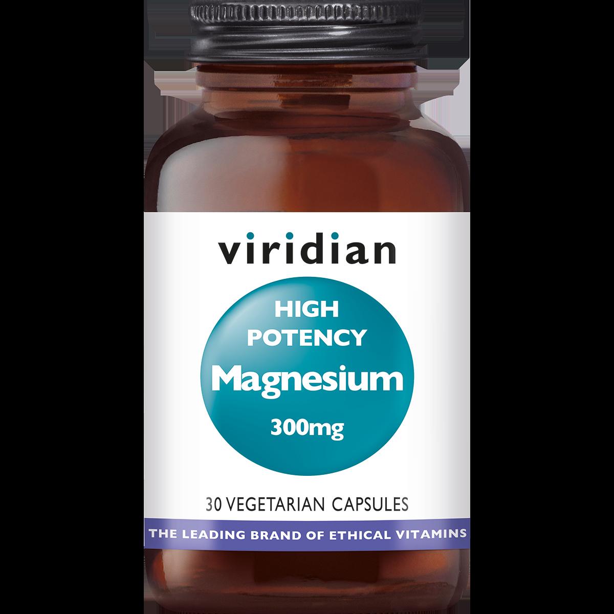 High Potency Magnesium 300 mg 30 plantaardige capsules-1