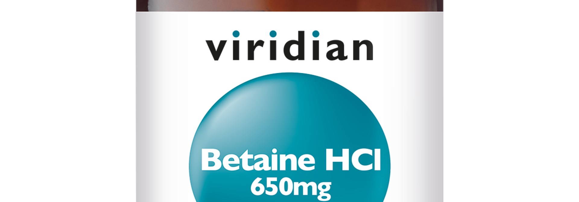 Betaine HCl 650 mg with Gentian Root 90 plantaardige capsules
