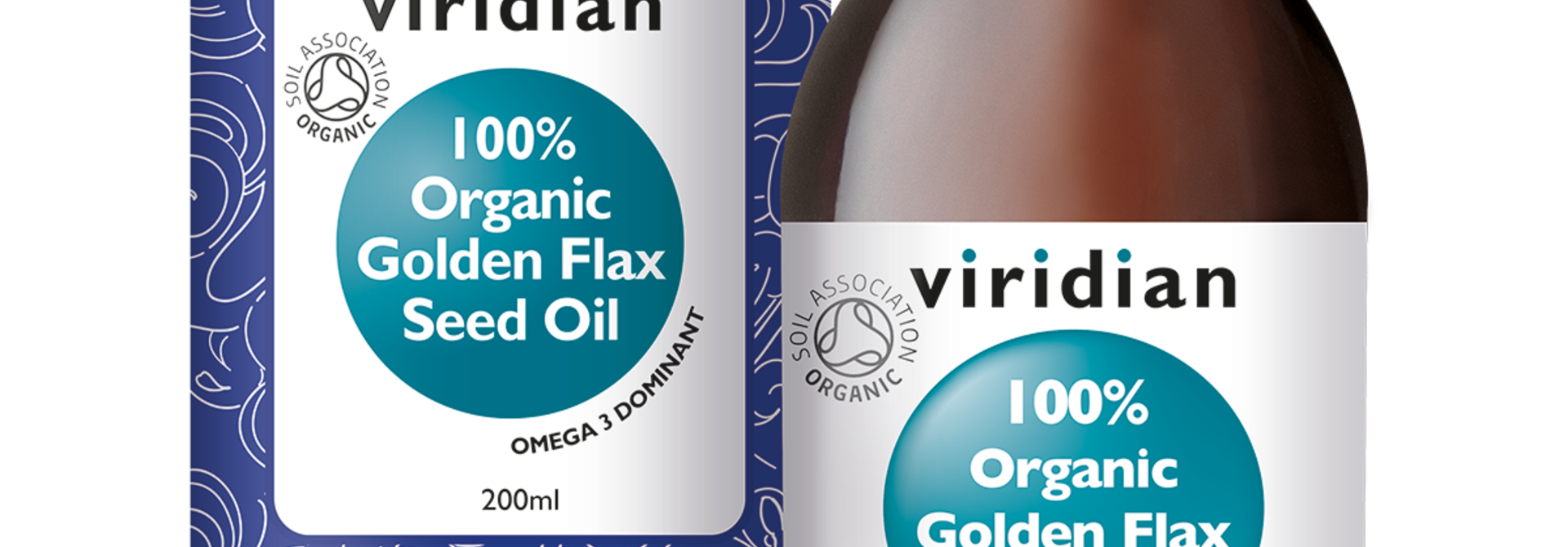 Organic Golden Flaxseed Oil 200 olie