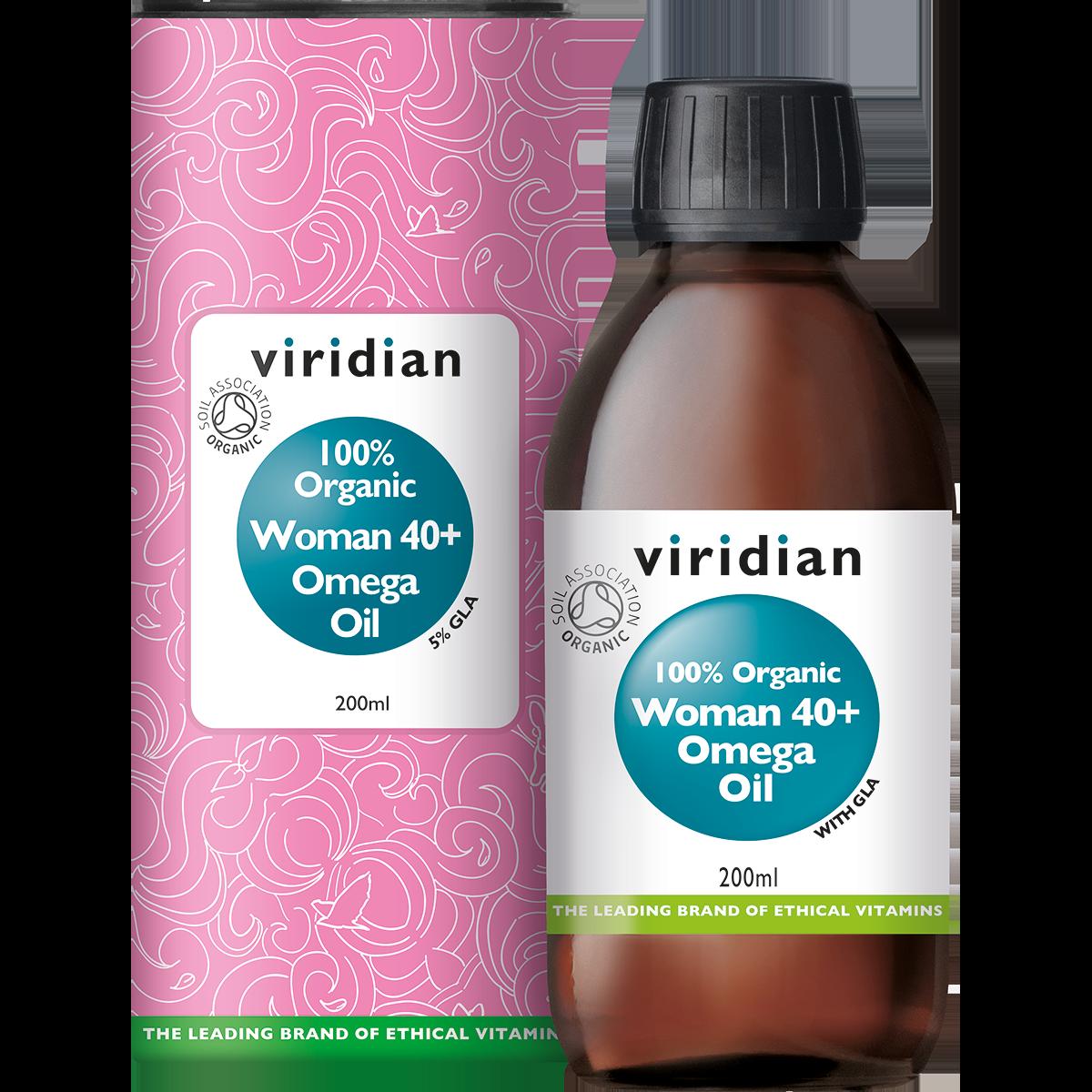 Organic Woman 40+ Omega Oil 200 olie-1