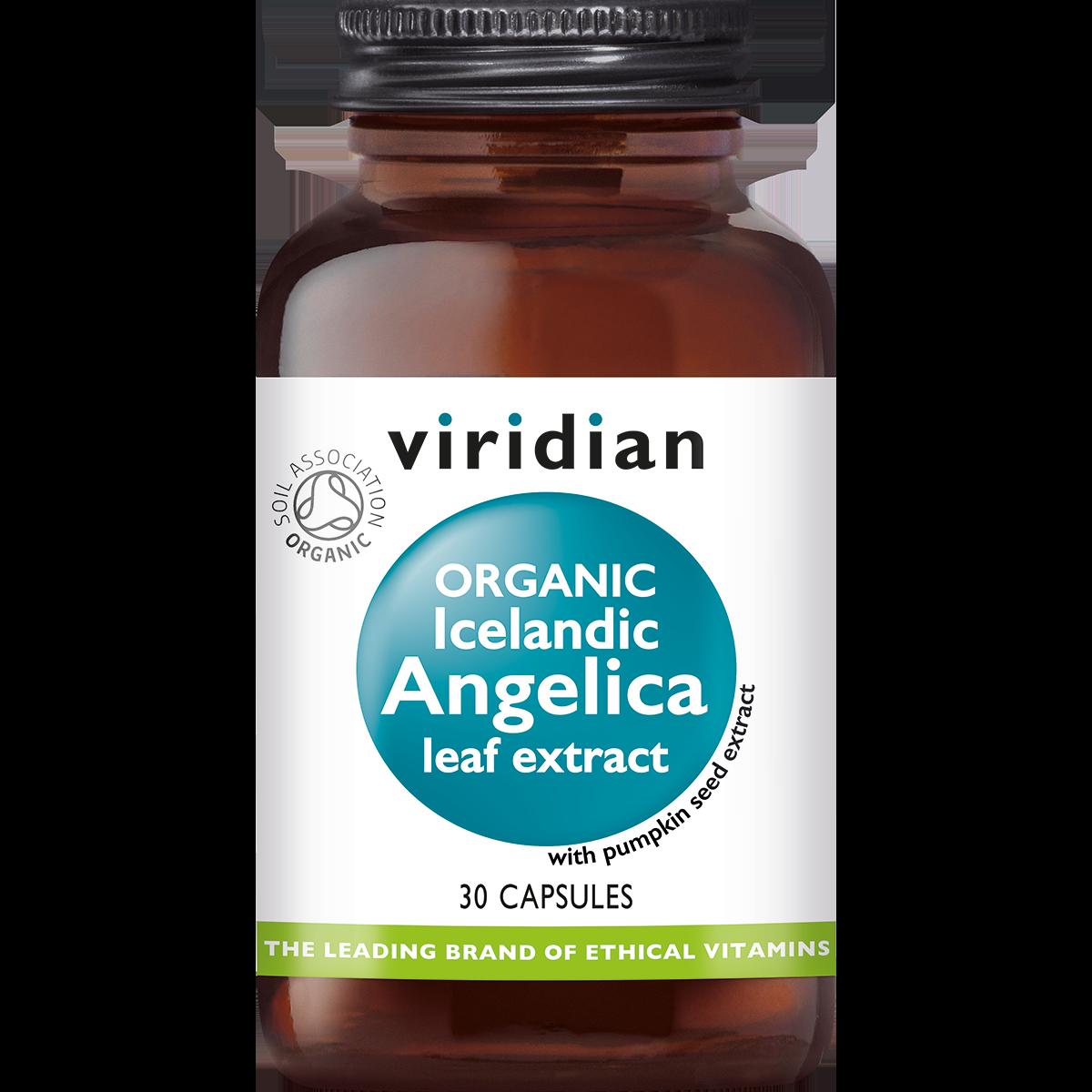 Organic Icelandic Angelica Leaf Extract 30 plantaardige capsules-1
