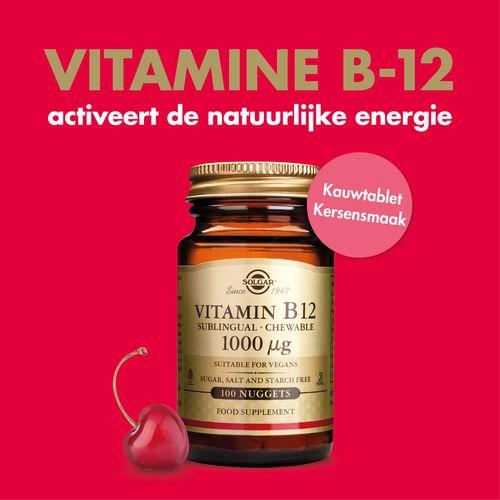 Vitamine B-12 activeert de natuurlijke energie!
