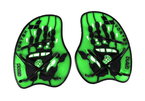 Arena Vortex Evolution Handpaddles Groen-Zwart