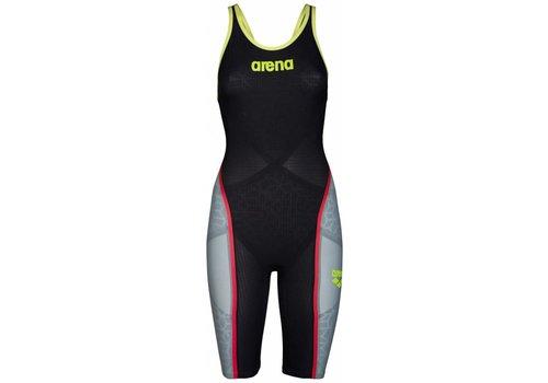 Arena Powerskin Carbon Ultra Open Rug Grijs-Fluor Geel