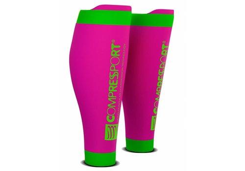 CompresSport Calf Sleeves R2 V2 Fluor Roze-Groen