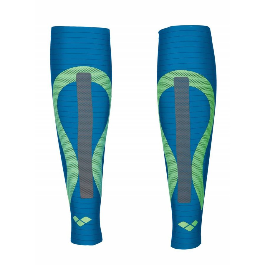 Arena Carbon Compression Calf Sleeves Blauw