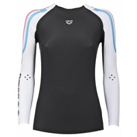 Arena Carbon Compression Long Sleeve Dames Grijs-Wit