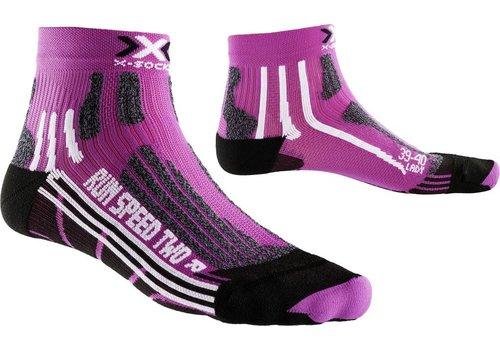 X-Socks Speed Dames Violet-Zwart