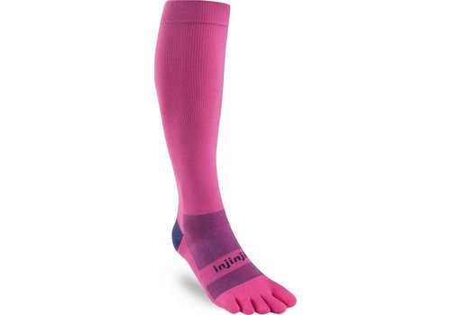 Injinji Womans Compression Over The Calf Pink