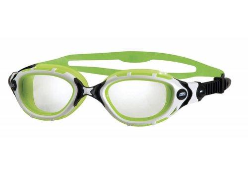Zoggs Zwembril Predator Flex Reactor Wit-Groen