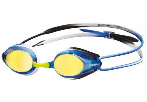 Arena Zwembril Tracks Spiegel Blauw-Zwart-Blauw
