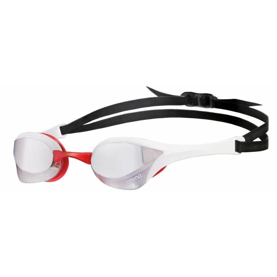 Arena Zwembril Cobra Ultra Spiegel Zilver-Wit-Rood