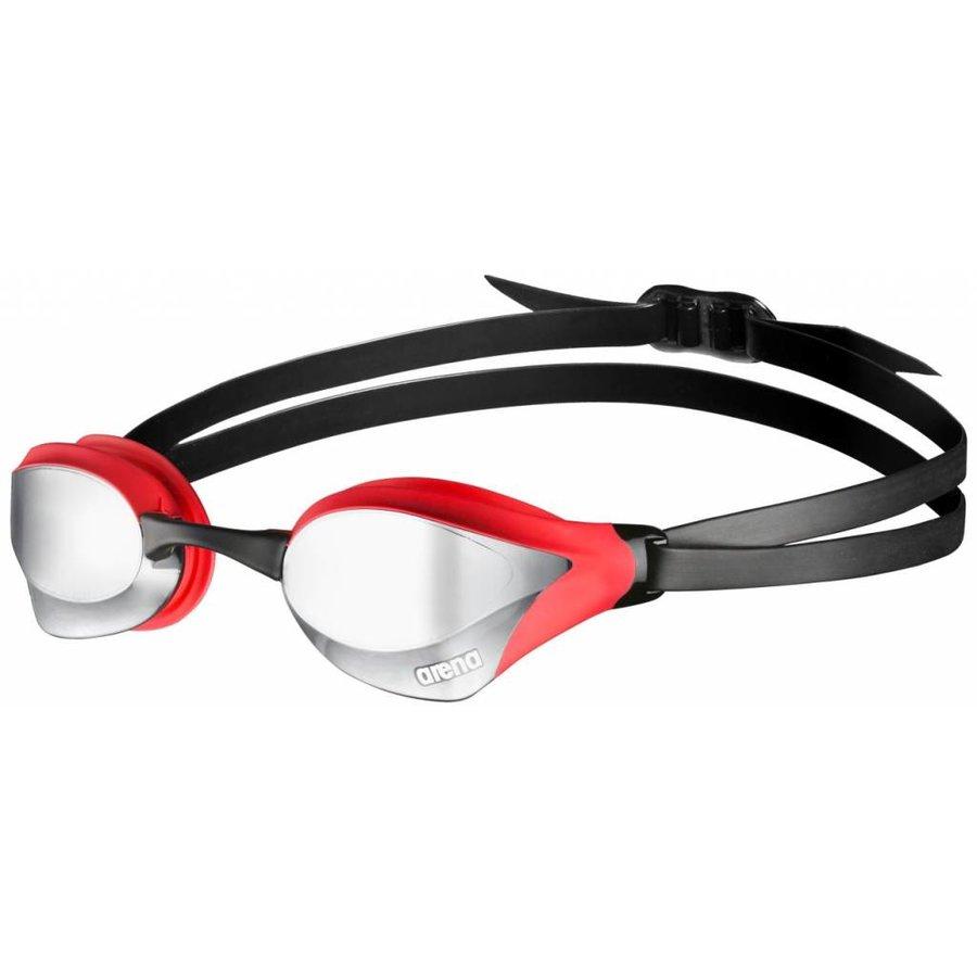 Arena Zwembril Cobra Core Spiegel Zilver-Rood-Zwart