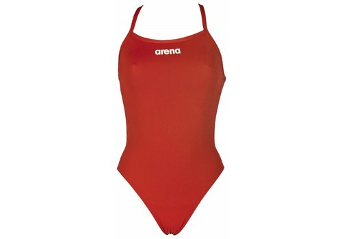 Arena Badpak Solid Lightech High Rood-Wit