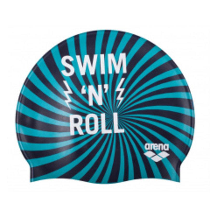 Arena Badmuts junior print Swim 'n Roll Navy