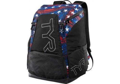 TYR Alliance Backpack 45L Zwart-Rood