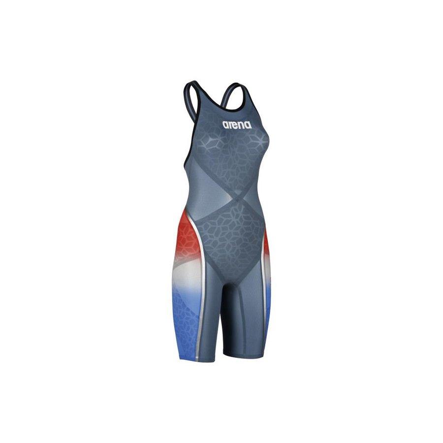 Arena Powerskin Carbon Ultra Open Rug Blauw-Zilver