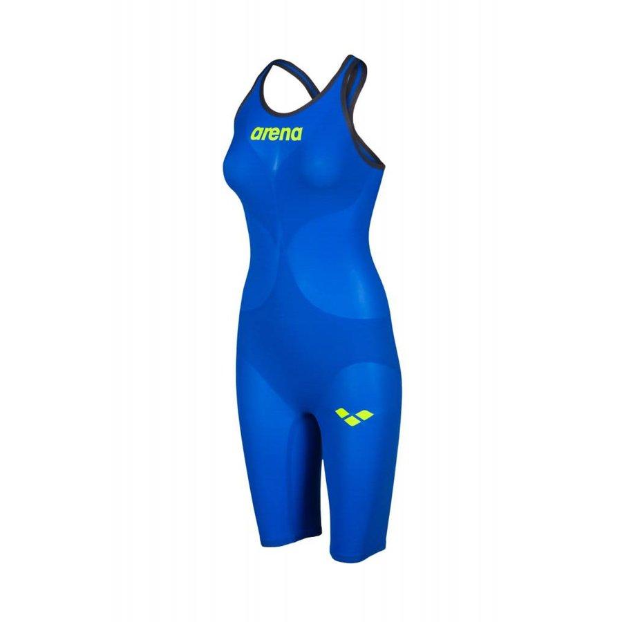 Arena Powerskin Carbon Air2 Dicht Rug Blauw-Geel