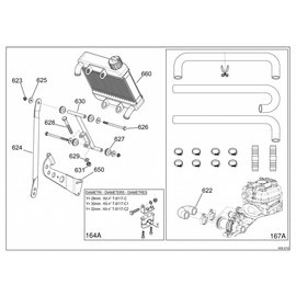 623 20 SELF LOCKING NUTS KIT M6