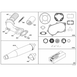 IAME S.p.A. Reparatursatz HB27 Ventil D. 2,3 X30